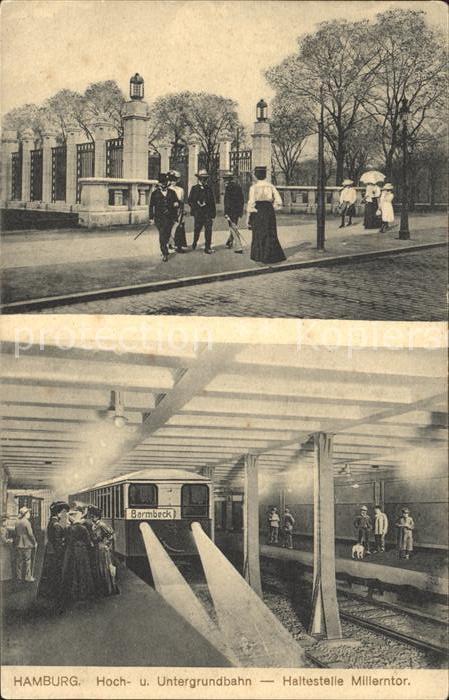 Hamburg Hoch  und Untergrundbahn Haltestelle Millerntor Kat. Hamburg
