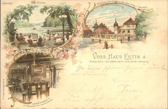 Eutin Voss Bruecke Voss Haus Wohnhaus des Dichters Voss Luisenzimmer Kat. Eutin