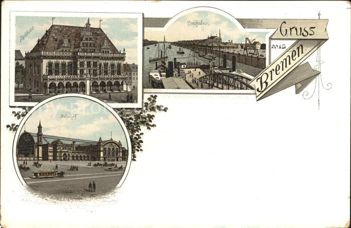 Bremen Rathhaus Bahnhof Freihafen Kat. Bremen