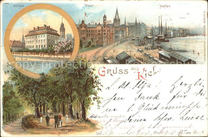 Kiel Schloss Post Hafen Duesternbroker Allee Kat. Kiel