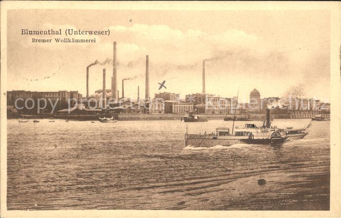 Blumenthal Bremen Bremer Wollkaemmerei an der Unterweser Kat. Bremen