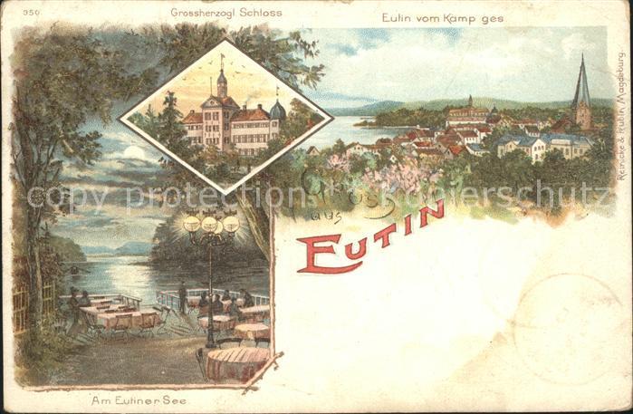 Eutin Grossherzogl Schloss Stadtblick Eutiner See Kat. Eutin