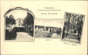 Timmendorfer Strand Pension Villa Brandt Strand Gartenpartie Kat. Timmendorfer Strand