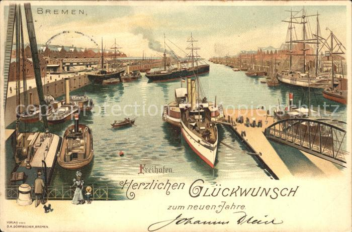 Bremen Freihafen Kat. Bremen