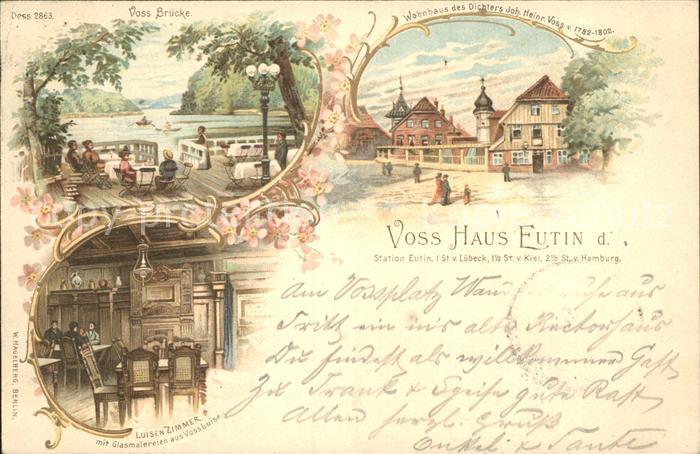 Eutin Voss Bruecke Voss Haus Luisenzimmer Kat. Eutin