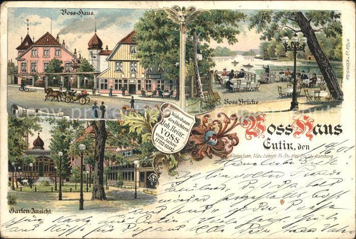 Eutin Voss Haus Gartenansicht Voss Bruecke Kat. Eutin