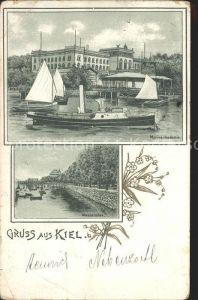 Kiel Marineakademie Wasserallee Kat. Kiel