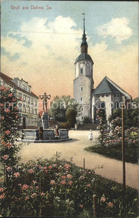 Dohna Sachsen Brunnen Kirche Kat. Dohna Sachsen