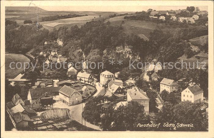 Porschdorf Panorama Kat. Porschdorf