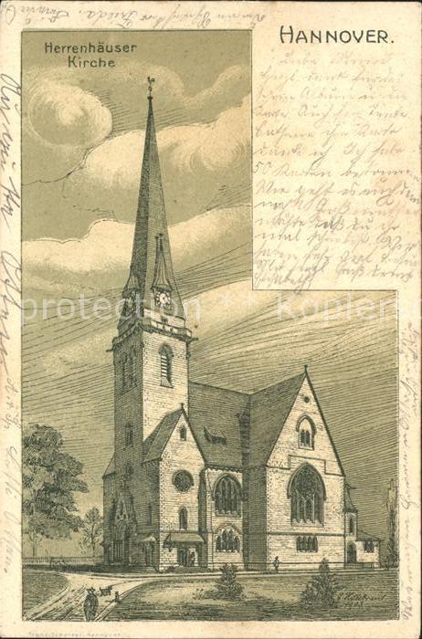 Hannover Herrenhaeuser Kirche Kat. Hannover