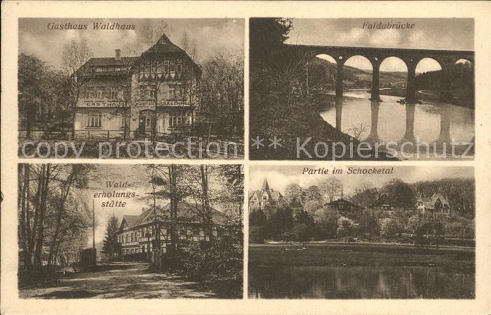 Kragenhof Gasthaus Waldhaus Walderholungsstaette Fuldabruecke Schocketal Kat. Fuldatal