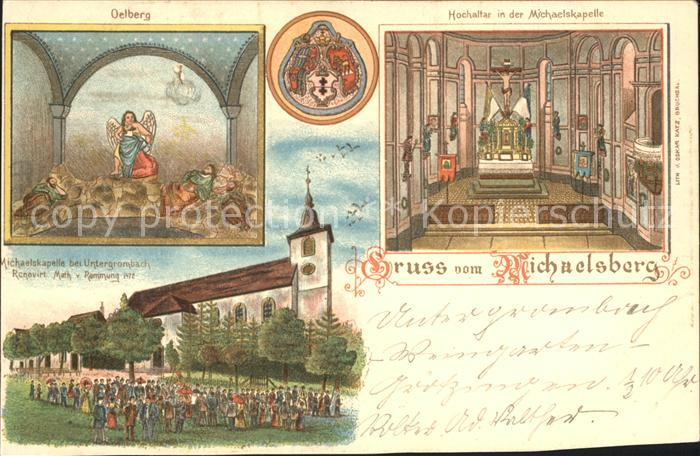 Untergrombach Michaelskapelle Oelberg Hochaltar Kat. Bruchsal