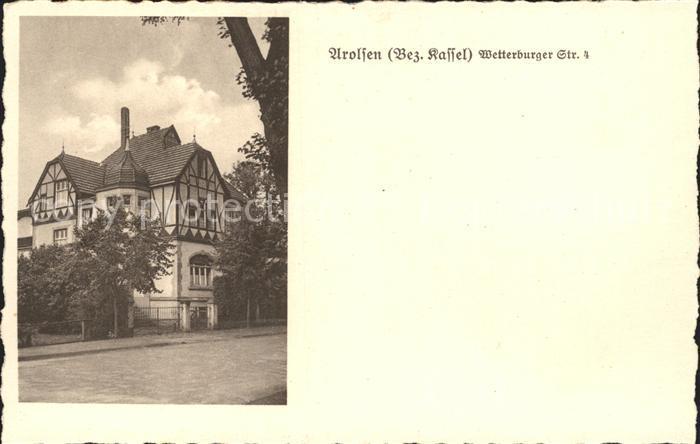 Arolsen Bad Wetterburger Strasse 4 Villa Kat. Bad Arolsen