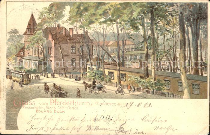 Hannover Pferdeturm Restauration Biergarten Kat. Hannover