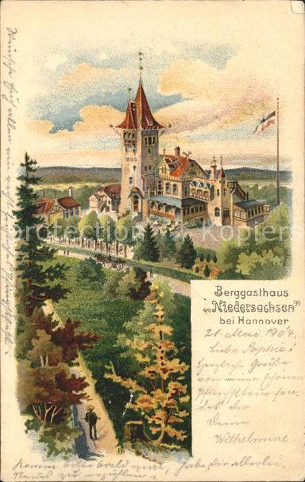Hannover Berggasthaus Niedersachsen Kuenstlerkarte Kat. Hannover