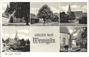 Wennigsen Ortspartien Kirche Kat. Wennigsen (Deister)