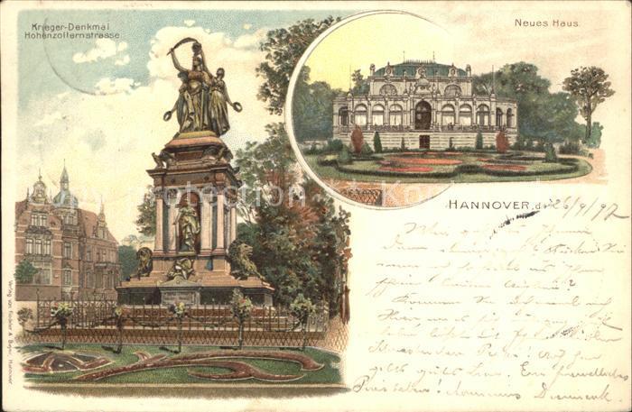 Hannover Kriegerdenkmal Hohenzollernstrasse Neues Haus Reichspost Kat. Hannover
