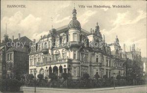 Hannover Villa von Hindenburg Wedekindstrasse Kat. Hannover