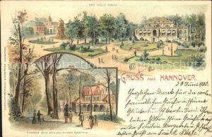 Hannover Das Neue Haus Eingang zum Zoologischen Garten Reichspost Kat. Hannover