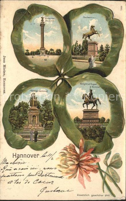Hannover Waterloo Saeule Sachsenross Koenig Ernst August Denkmal Kriegerdenkmal Kat. Hannover