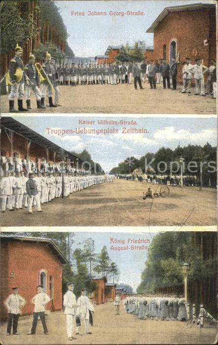Zeithain Truppenuebungsplatz Prinz Johann Georg Str Kaiser Wilhelm Str Koenig Friedrich August Str Kat. Zeithain