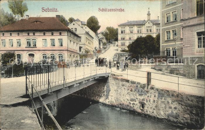 Sebnitz Schuetzenstrasse Bruecke Kat. Sebnitz