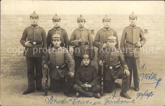 Saarlouis Weltkrieg 1 Maschinengewehr-komp 16 Armeekorps / Saarlouis /Saarlouis LKR