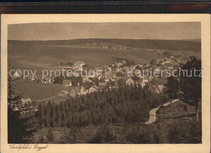 Carlsfeld Erzgebirge Panorama Kat. Eibenstock