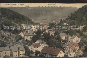Krippen Bad Schandau Teilansicht mit Neu Schandau Kat. Bad Schandau