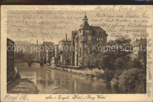Aue Erzgebirge Hotel Burg Wettin Kat. Aue