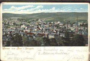 Aue Erzgebirge Panorama Kat. Aue