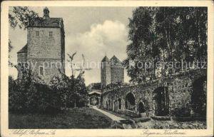 Stolpen Schloss Seiger  und Koselturm Kat. Stolpen