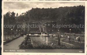 Aue Erzgebirge Stadtgarten Kat. Aue
