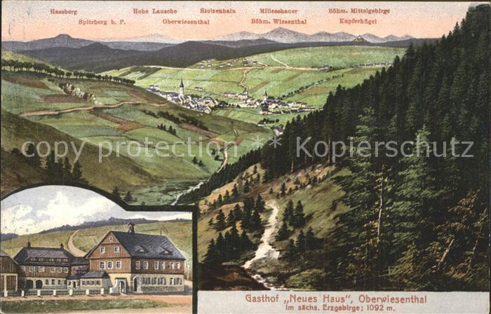 AK Angelhausen Gasthof v K Kumberg Panorama mit
