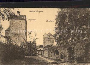 Stolpen Schloss Seigerturm und Koselturm Kat. Stolpen
