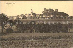 Stolpen Teilansicht mit Kirche und Schloss Kat. Stolpen