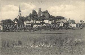 Stolpen Schloss und Kirche Kat. Stolpen