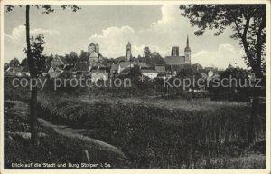 Stolpen Stadtblick Kirche und Schloss Kat. Stolpen