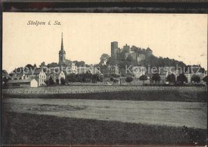 Stolpen mit Kirche und Schloss Kat. Stolpen