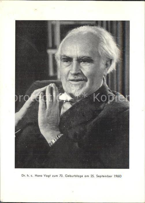 Passau Portrait Dr hc Hans Vogt Kat. Passau