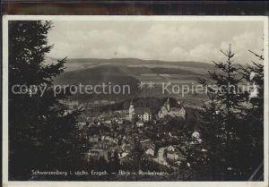 Schwarzenberg Erzgebirge Blick vom Rockelmann Kat. Schwarzenberg