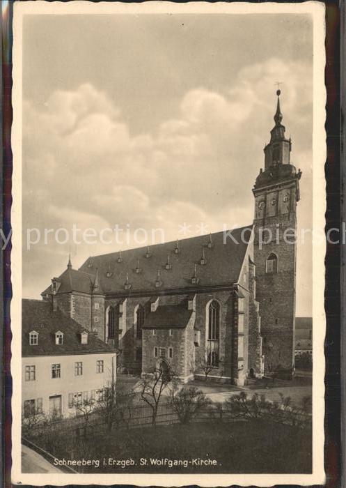 Schneeberg Erzgebirge St Wolfgang Kirche Kat. Schneeberg