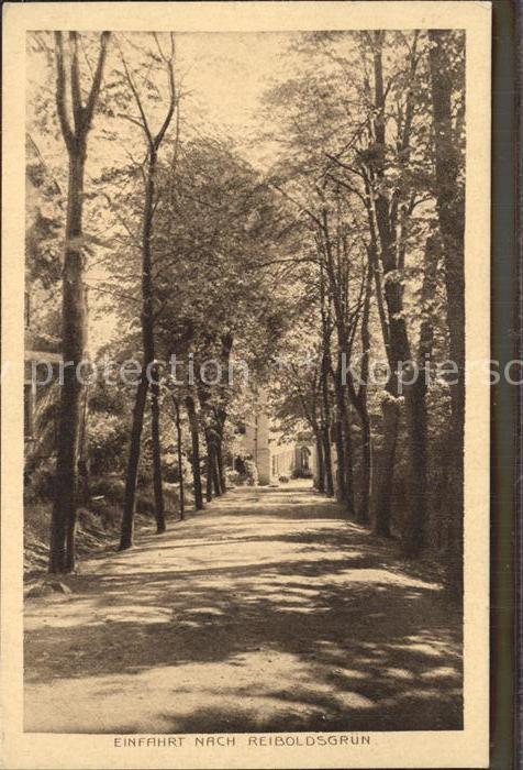 Bad Reiboldsgruen Einfahrt in den Ort Kat. Auerbach