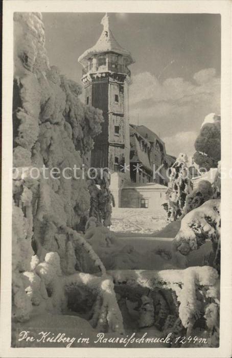 Oberwiesenthal Erzgebirge Keilberg Turm im Winter Kat. Oberwiesenthal