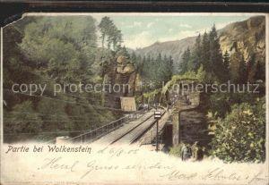 Wolkenstein Erzgebirge Partie bei Wolkenstein Eisenbahnlinie Kat. Wolkenstein