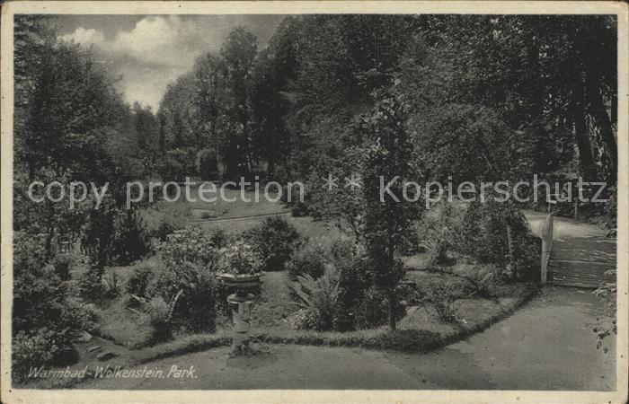 Wolkenstein Erzgebirge Warmbad Park Kat. Wolkenstein