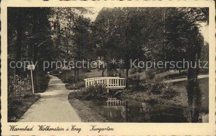 Wolkenstein Erzgebirge Warmbad Wolkenstein Kurgarten Kat. Wolkenstein