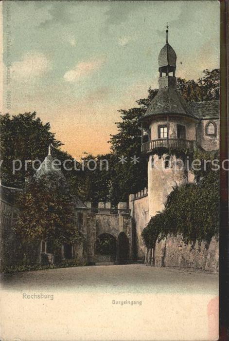 Rochsburg Burgeingang Kat. Lunzenau