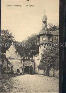 Rochsburg Schloss Vorhof Kat. Lunzenau