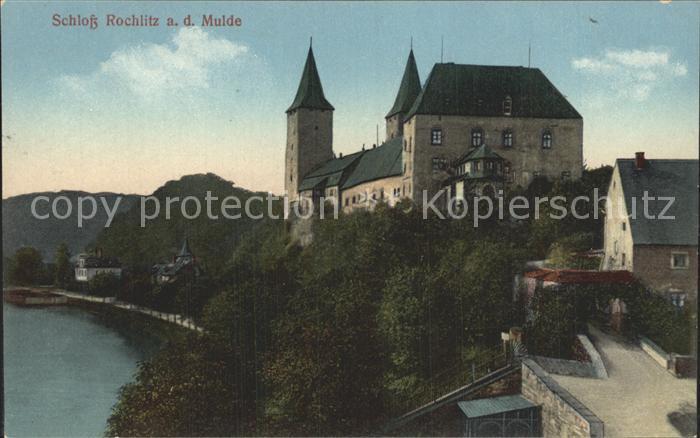 Rochlitz Sachsen Schloss an der Mulde Kat. Rochlitz
